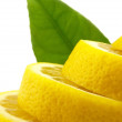 Lemon with leaves — Stock Photo #1037798