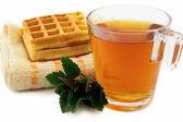 Tea with melissa — Stock Photo