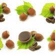 Chocolate candy with hazelnuts — Stock Photo #1528222