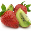 Kiwi and strawberry — Stock Photo