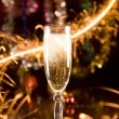 New Year card with champagne — Stock Photo #1006118