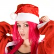 Royalty-Free Stock Photo: Surprised mrs. Santa