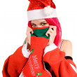 Portrait of romantic Mrs. Santa — Stock Photo