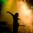 Unrecognizable musician on the stage — Stock Photo