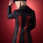 Attractive girl in creative coat — Stock Photo #1099050