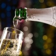 New Year card with champagne — Stock Photo #1103111