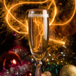 New Year card with champagne — Stock Photo #1103246
