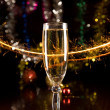 New Year card with champagne — Stock Photo #1103398