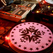 Stylish turntable at the party - Stock Photo