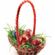 Easter eggs in basket — Stock Photo #1104737