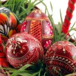 Easter eggs in basket — Stock Photo #1104797