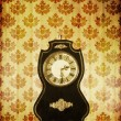 Vintage clocks on grungy background — Stock Photo