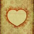 Vintage wallpaper with floral heart — Stock Photo