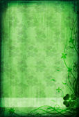 Grunge background with clover — Stock Photo
