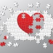 Royalty-Free Stock Photo: Jigsaw pieces broken heart