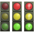 set of traffic lights — Stock Photo