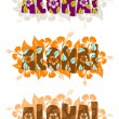 Illustration of aloha word — Lizenzfreies Foto