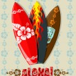 Illustration of surf boards — 图库照片 #1166171