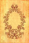 Vintage frame on textured background wit — Stock Photo