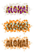 Illustration of aloha word — Foto Stock