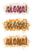 Illustrazione di aloha parola — Foto Stock