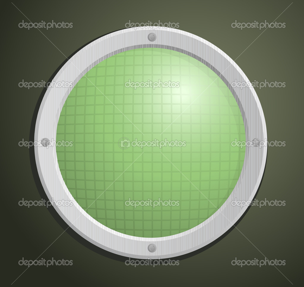 Illustration of old circular radar  Stock Photo #1166174