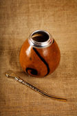 Argentinean Calabash with Bombilla — Stock Photo