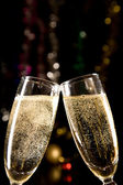 Champagne glasses making toast — Stockfoto