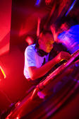 Dj at the party, motion blur — Stock Photo