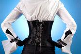 Vista traseira do garota bonita elegante — Fotografia Stock