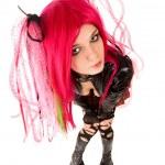 Cyber gothic girl — Stock Photo