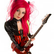 Attractive girl with guitar — Stock Photo #1955385