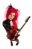 Attractive girl with guitar — Stock Photo