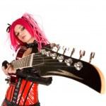 Gocki dziewczyna z gitara — Zdjęcie stockowe
