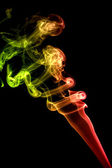 Colored red smoke — Stock Photo