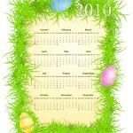 Vector illustration of Easter calendar 2010 — Stock Vector