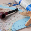 Geographical journal — Stock Photo