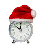 Clock in the hat of Santa — Stockfoto