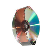 Digital disc and a film strip — Stock Photo