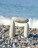 Gates of the pebbles on the beach — Stock Photo