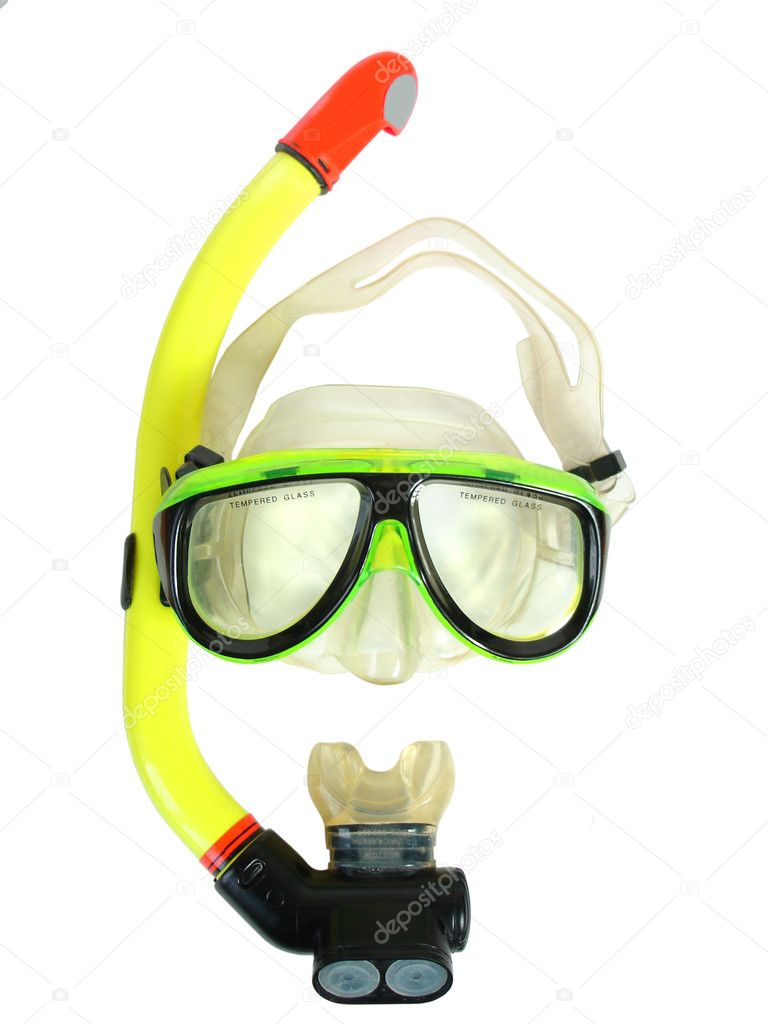The equipment for diving  on a white background — Stock Photo #1006140