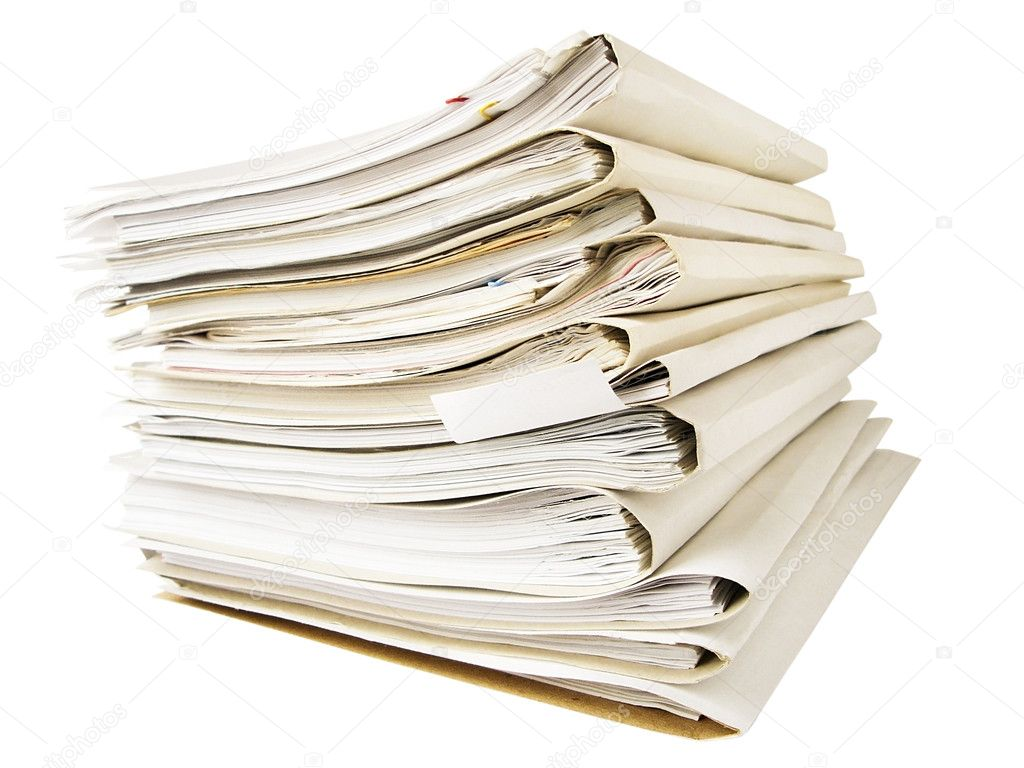A stack of folders isolated on white — Stock Photo #1007992