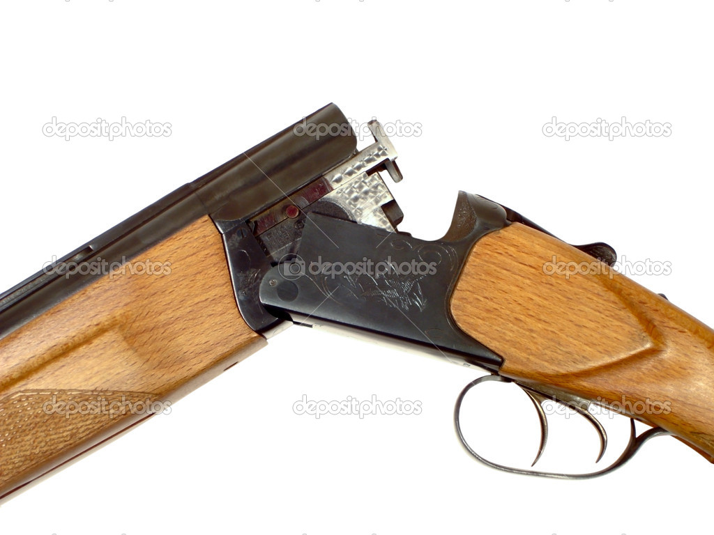 Gun open isolated on a white background — Stock Photo #1009074