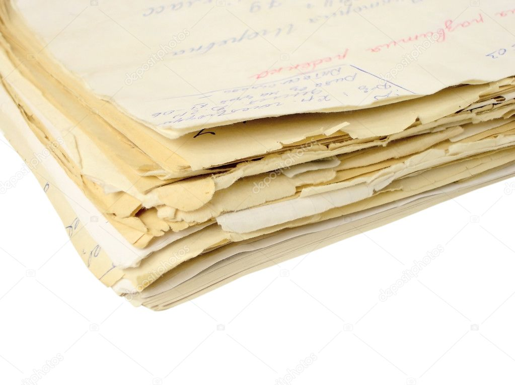 Folder with the documents isolated — Stock Photo #1009174