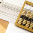 Royalty-Free Stock Photo: Documents end abacus