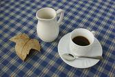 Poranna kawa z mlekiem — Zdjęcie stockowe