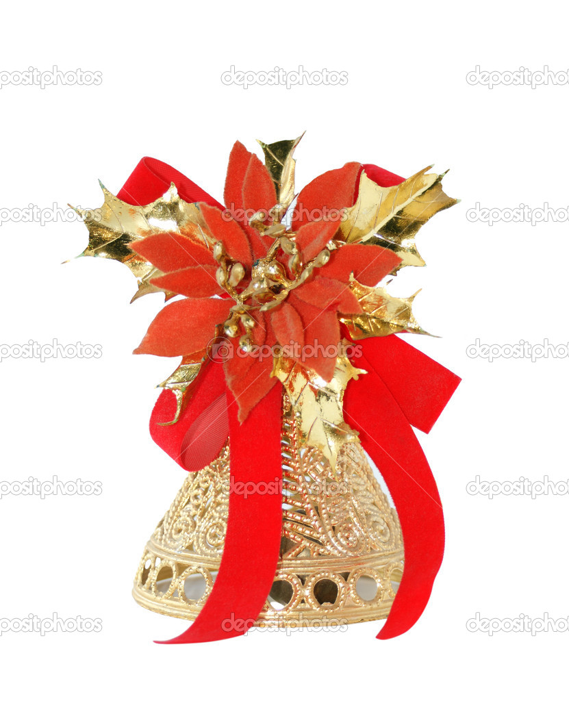 Christmas bell isolated on white — Stock Photo #1013973
