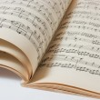 Royalty-Free Stock Photo: Old open  music book