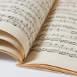 Stock Photo: Old open music book