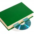 CD in the book — Stock Photo